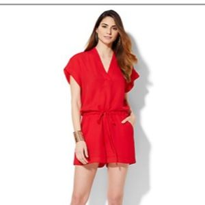 New York and Company Red romper